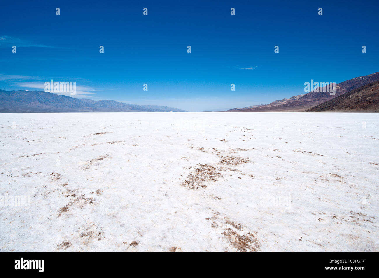 Salt flats near Badwater Basin, Death Valley National Park, California, United States of America - Stock Image