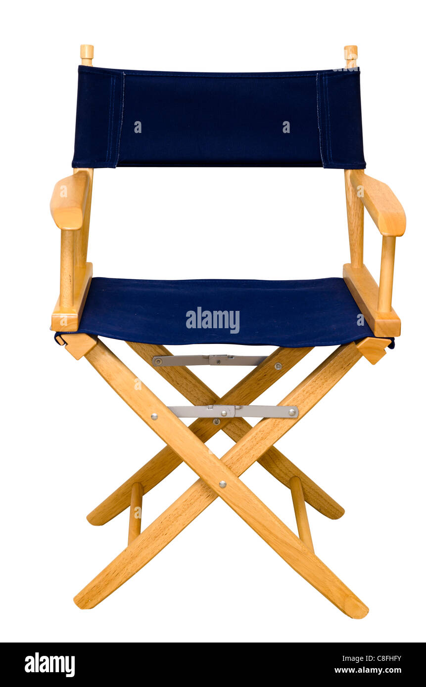 Director's Chair Isolated - Stock Image