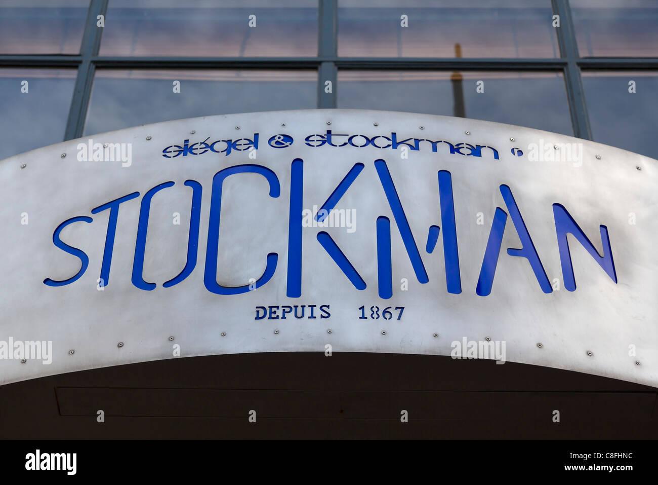 Siegel & Stockman mannequin specialist store at Rue Du Faubourg Saint Honoré, Paris, France - Stock Image