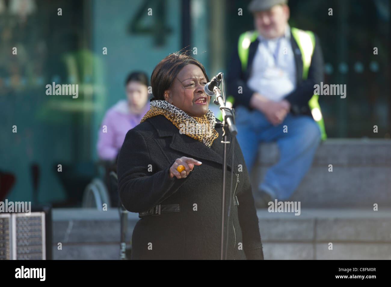 Saturday 22nd October 2011, Queens Way, London. Jeannette Arnold, Chair of the London Assembly and NE London Assembly - Stock Image