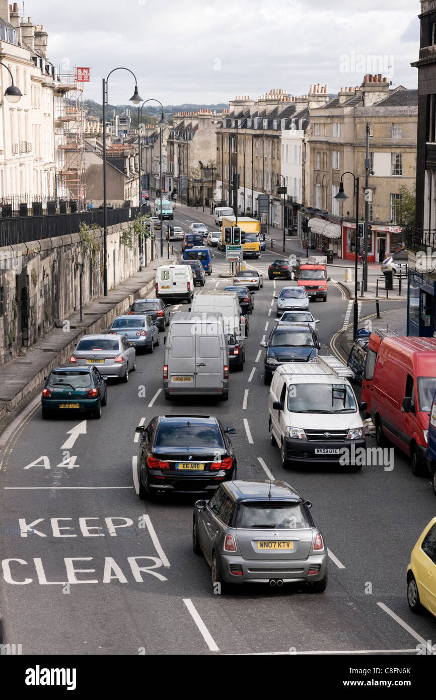 Bath Somerset England UK Traffic congestion - Stock Image
