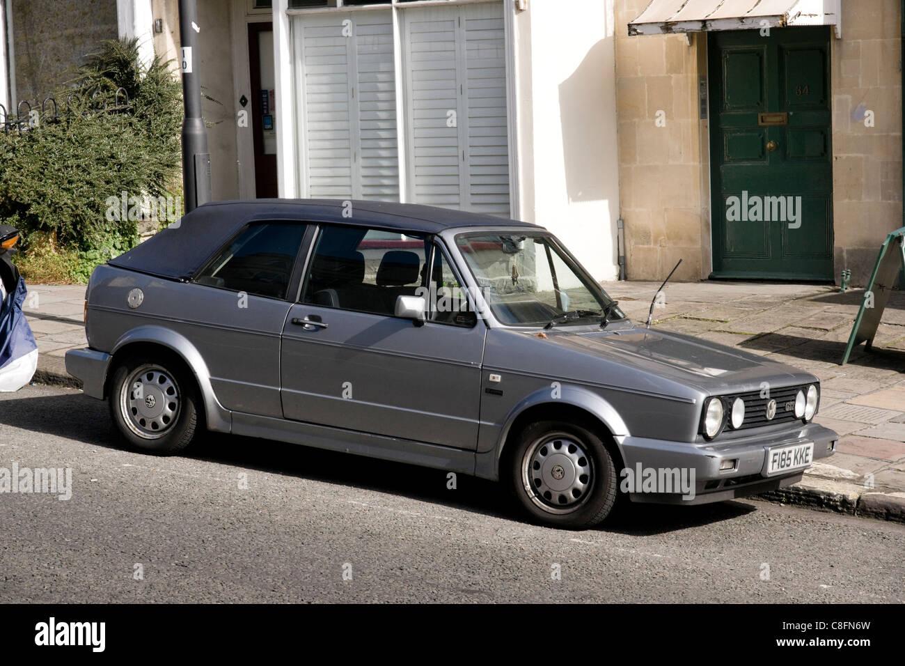 VW Golf Mark II cabriolet - Stock Image
