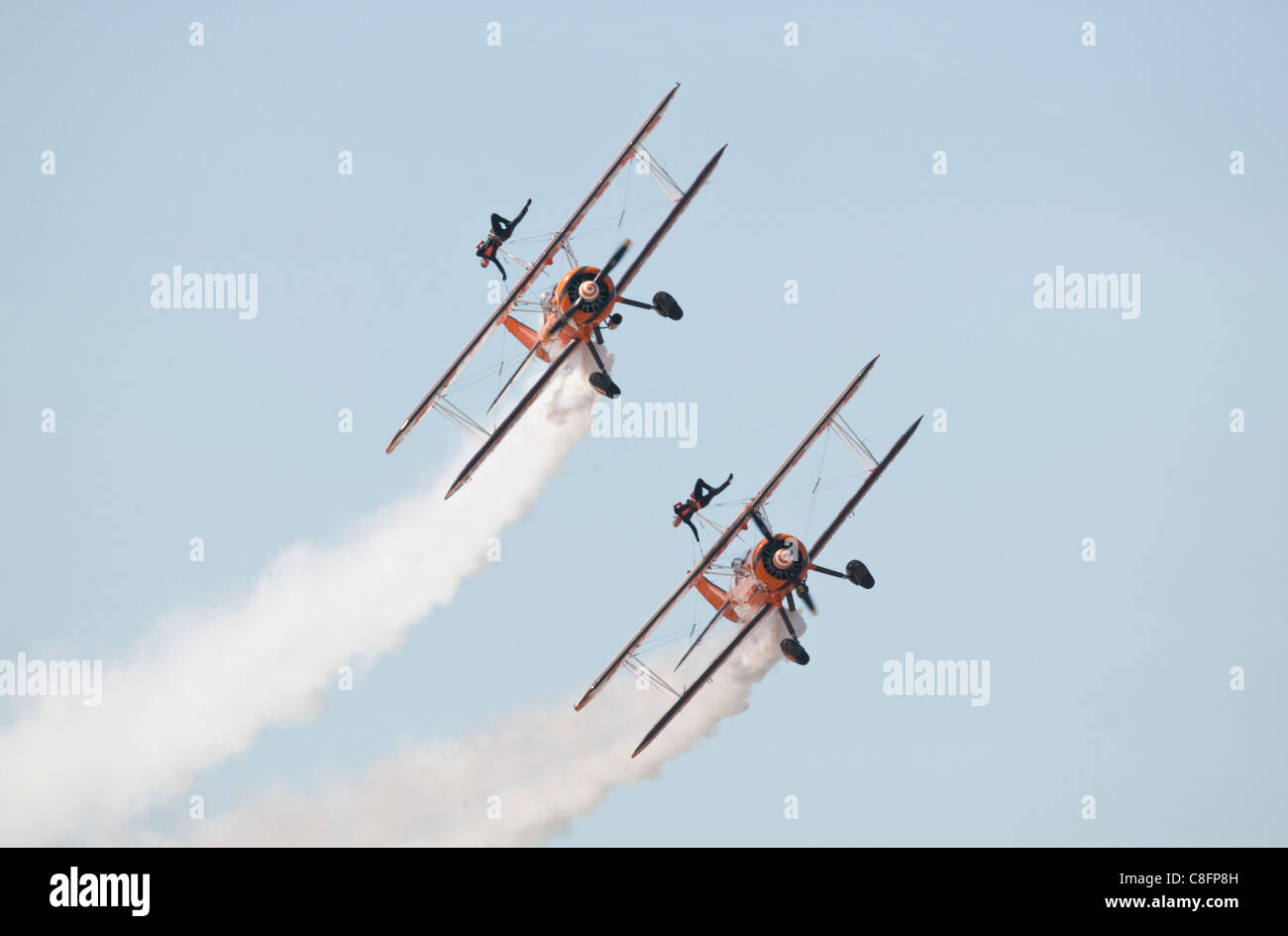 1940s Boeing Stearman biplanes - Stock Image