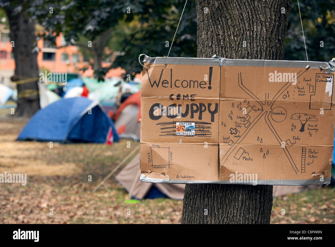 The Map Of Occupy Toronto Camp In St James Park Toronto Ontario