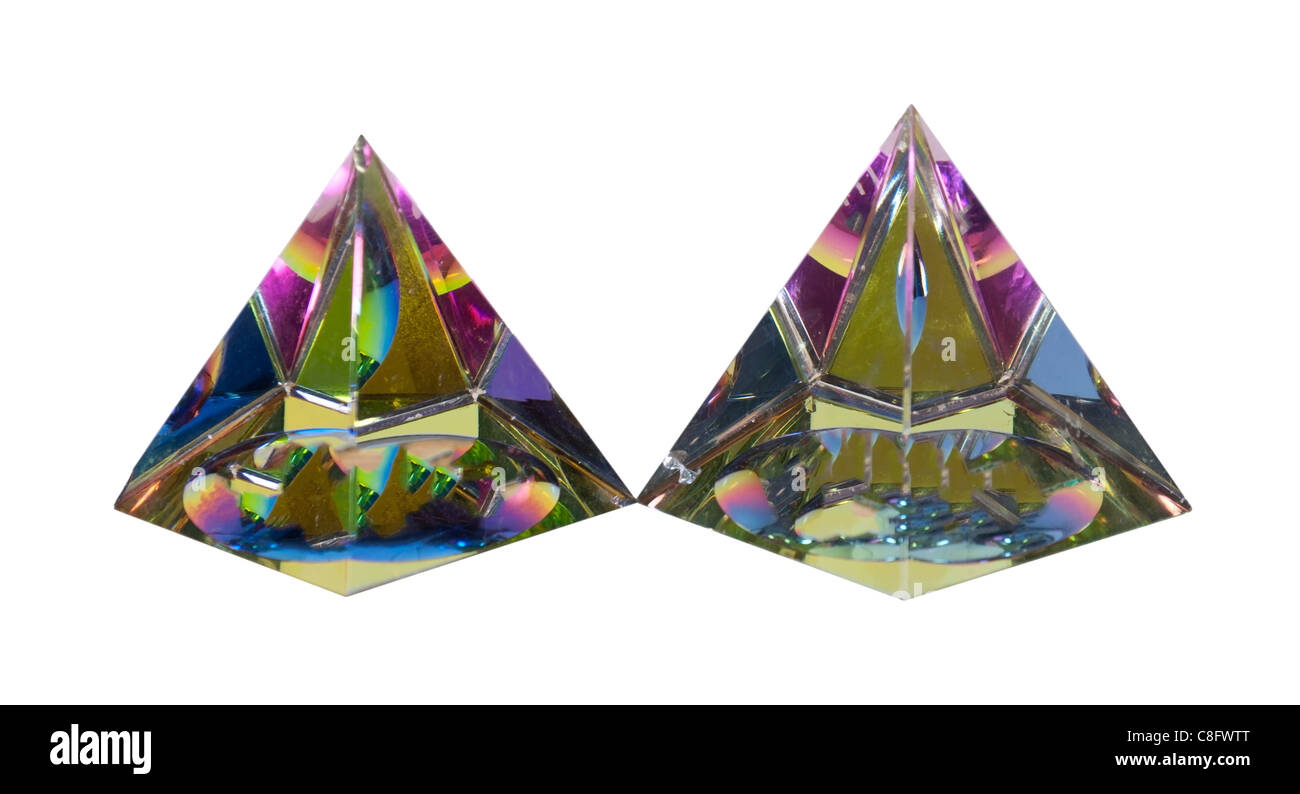 Crystal pyramids thought to contain mystical powers - path included - Stock Image
