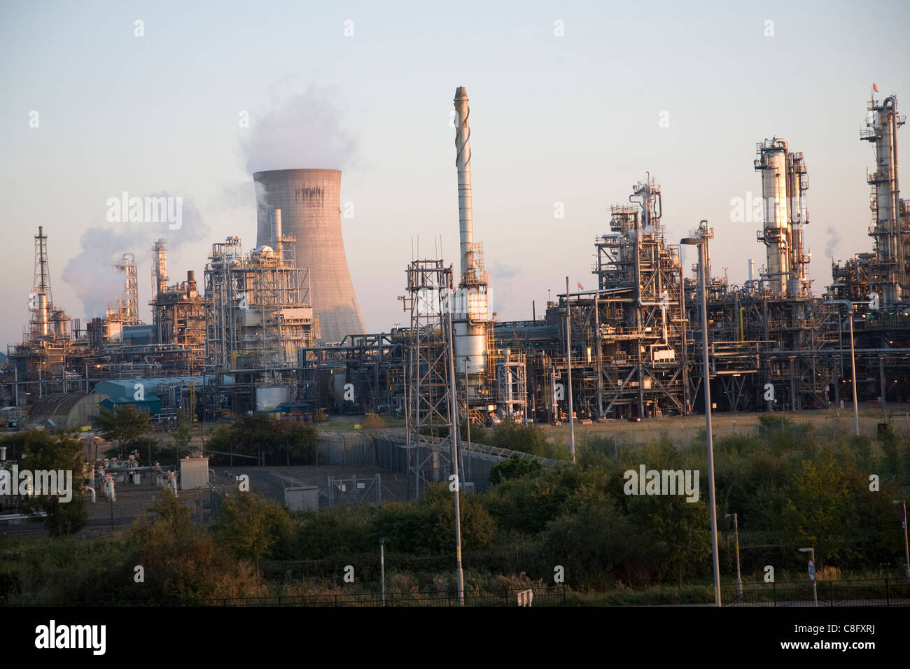Heavy industry BP chemical works, Saltend, Hull, Yorkshire, England - Stock Image