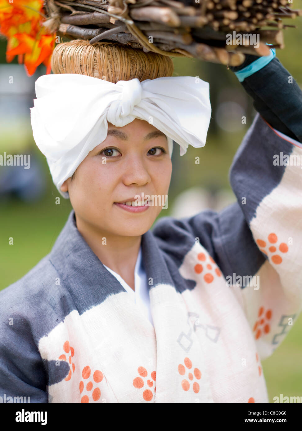 Imperial Palace, Kyoto, Japan. 23/10/2011  Participant in Kyoto's Jidai Matsuri (Festival of Ages). Delayed - Stock Image
