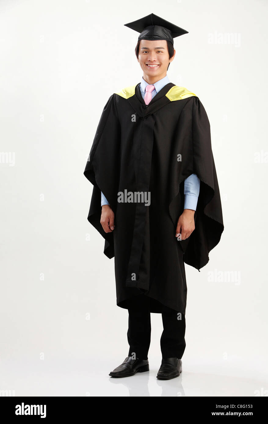 full length of the man in the graduation gown Stock Photo: 39690143 ...