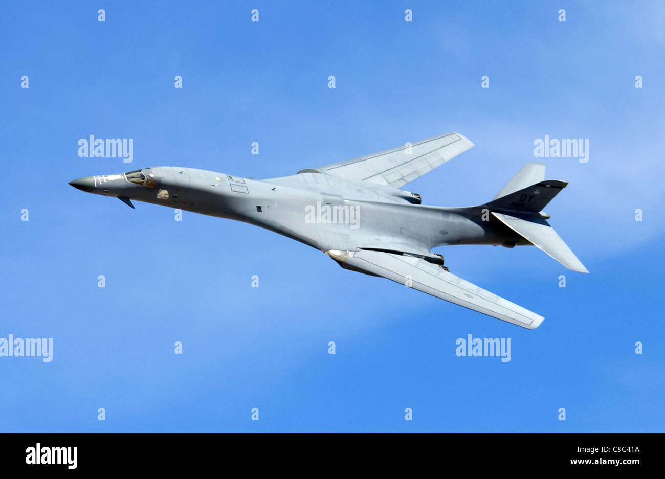 B1B Lancer with swept wings - Stock Image