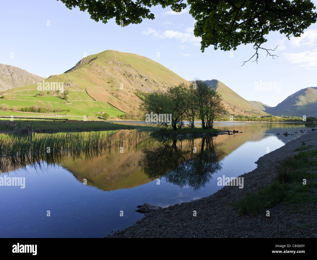 English Lake District - Hartsop Dodd, reflected in Brothers Water - Stock Image