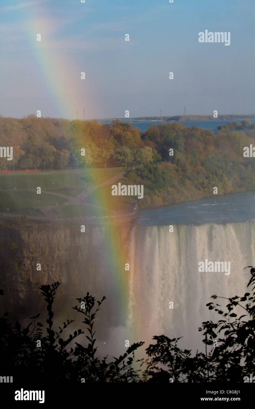 niagara falls rainbow - Stock Image