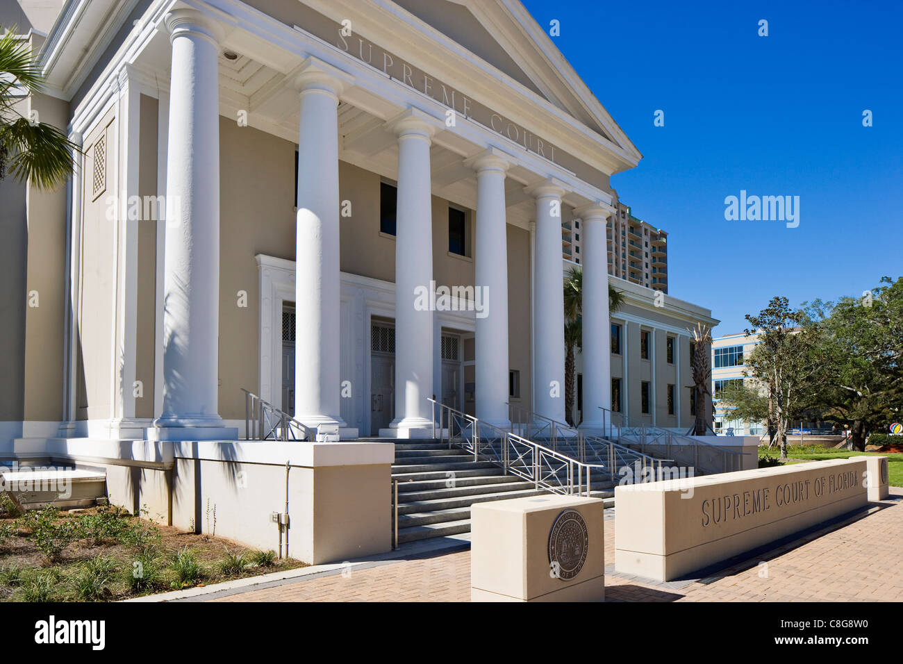 The State Supreme Court of Florida building, Tallahassee, Florida, USA - Stock Image