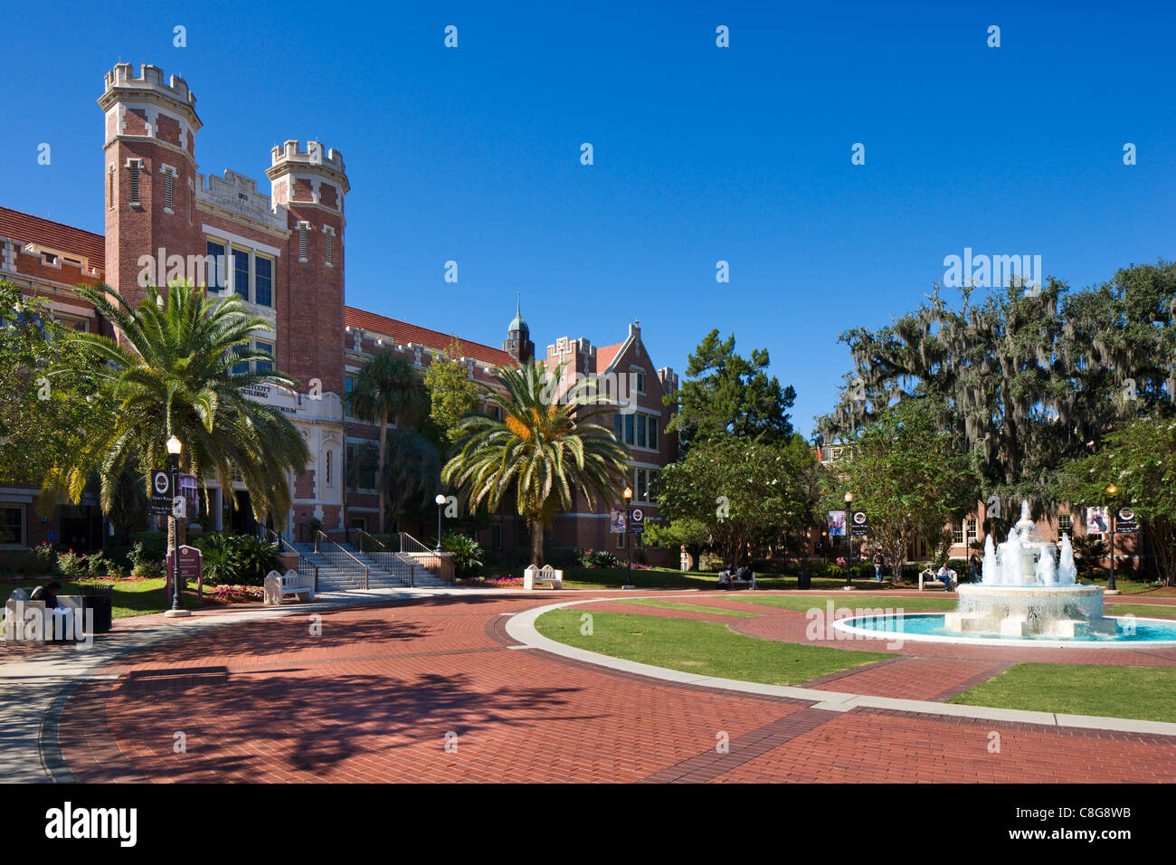 The Westcott Building and Ruby Diamond Auditorium, Florida State University, Tallahassee, Florida, USA - Stock Image