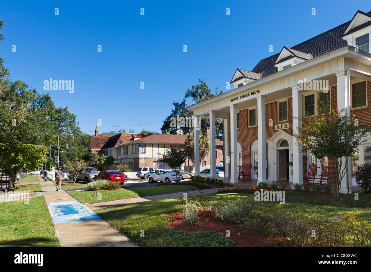 Alpha Gamma Delta women's fraternity house at Florida State University, Tallahassee, Florida, USA - Stock Image