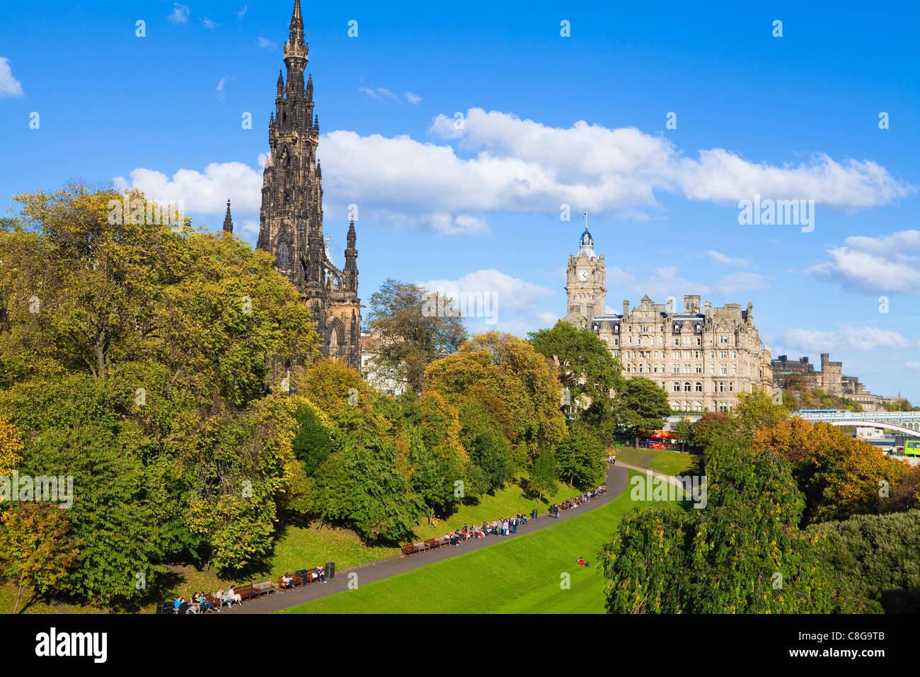 Princes Street Gardens, Edinburgh, Lothian, Scotland, United Kingdom - Stock Image