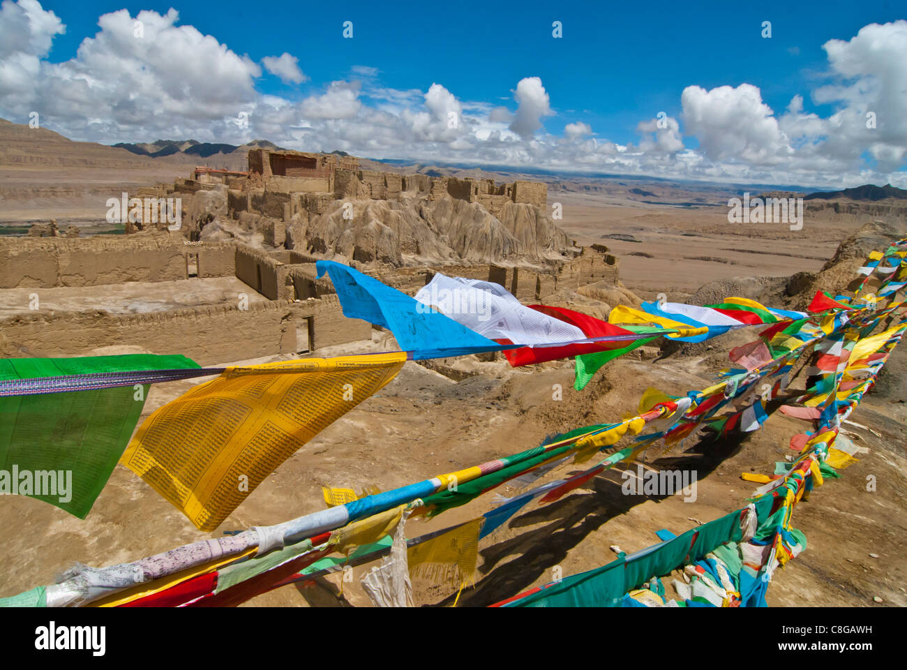The old kingdom of Guge in the most western part of Tibet, China - Stock Image