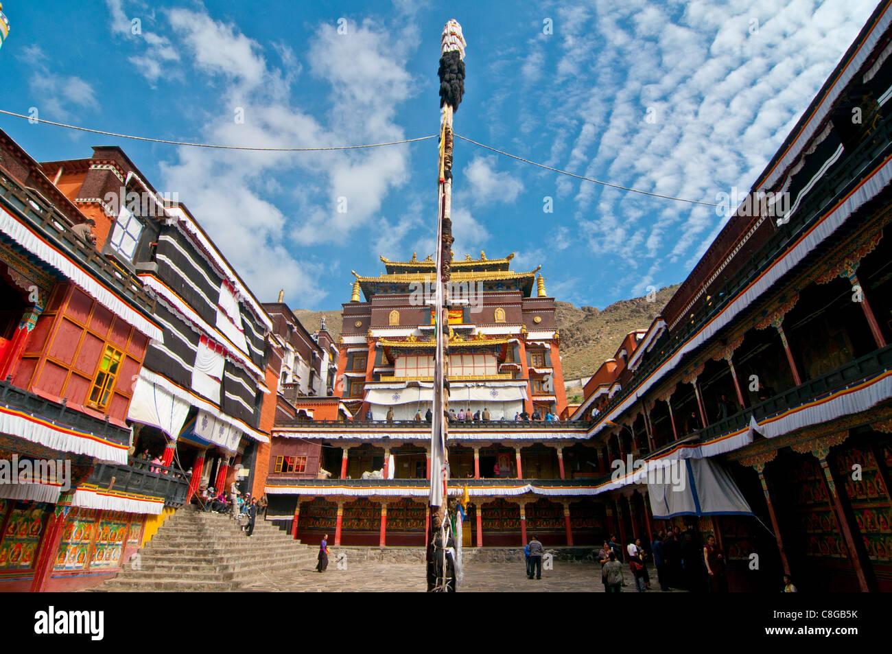 Tashilumpo monastery, Shigatse, Tibet Autonomous Region, China - Stock Image