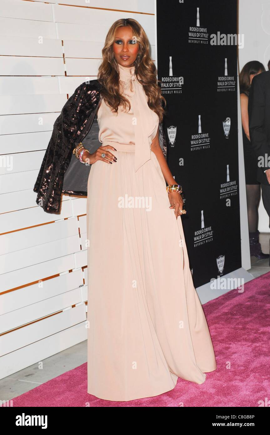 Iman at arrivals for Rodeo Drive Walk of Style Awards Presentation 6705442bb