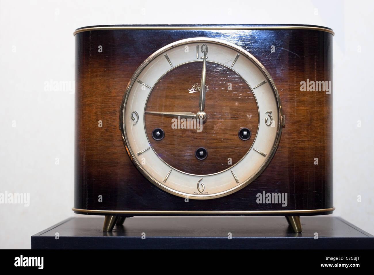 German elegant antique clock. - Stock Image