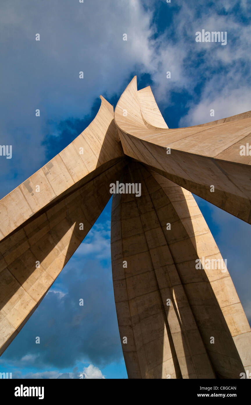 The Martyrs monument, Algiers, Algeria, North Africa - Stock Image