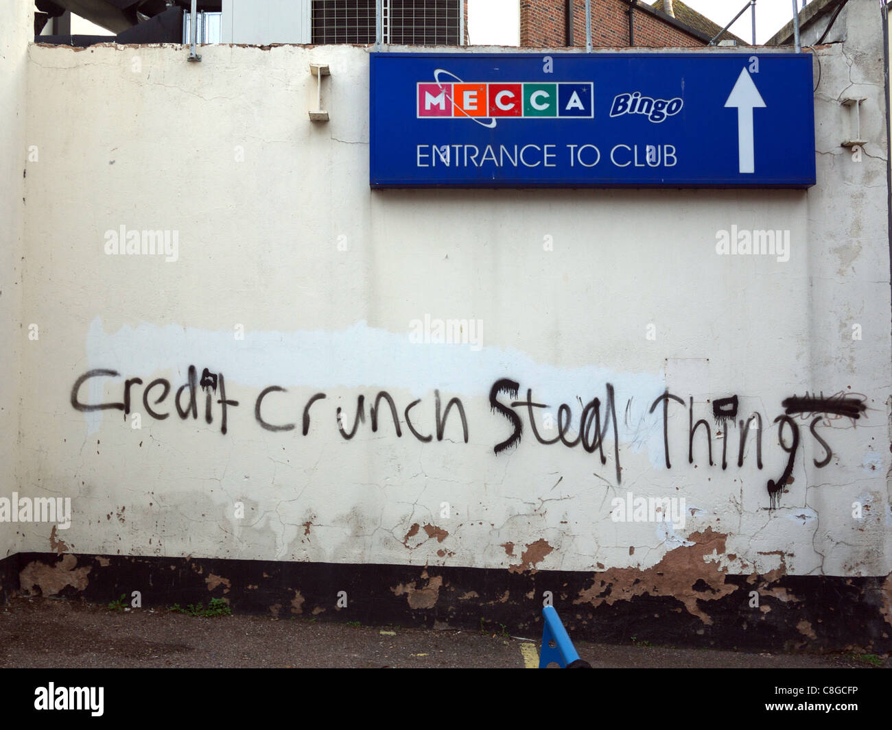 Credit Crunch Steal Things - Stock Image