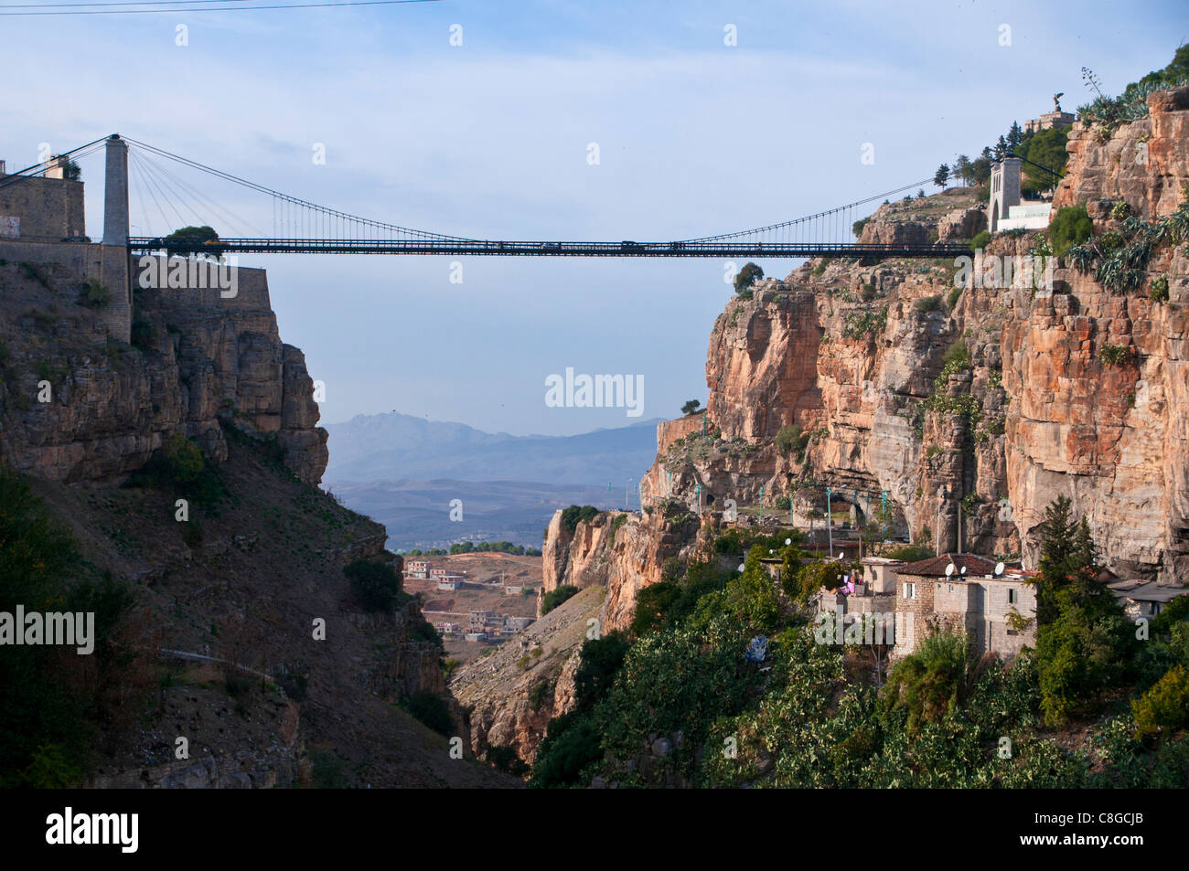 Sidi m'Cid bridge over a huge canyon, Constantine, Eastern Algeria, North Africa Stock Photo