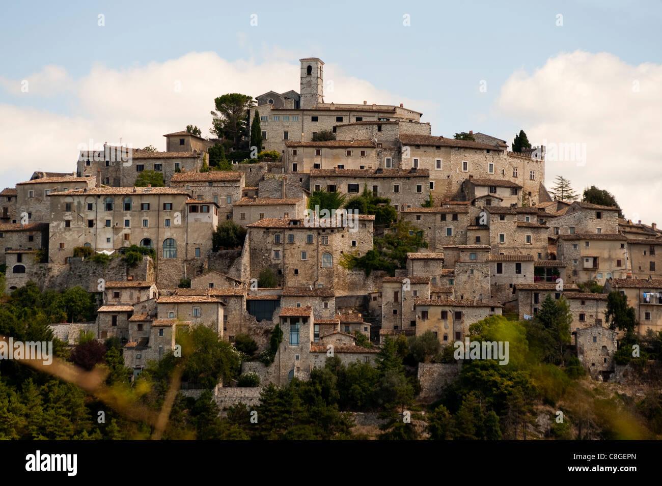 Medieval village of Labro, Rieti, Lazio, Italy - Stock Image