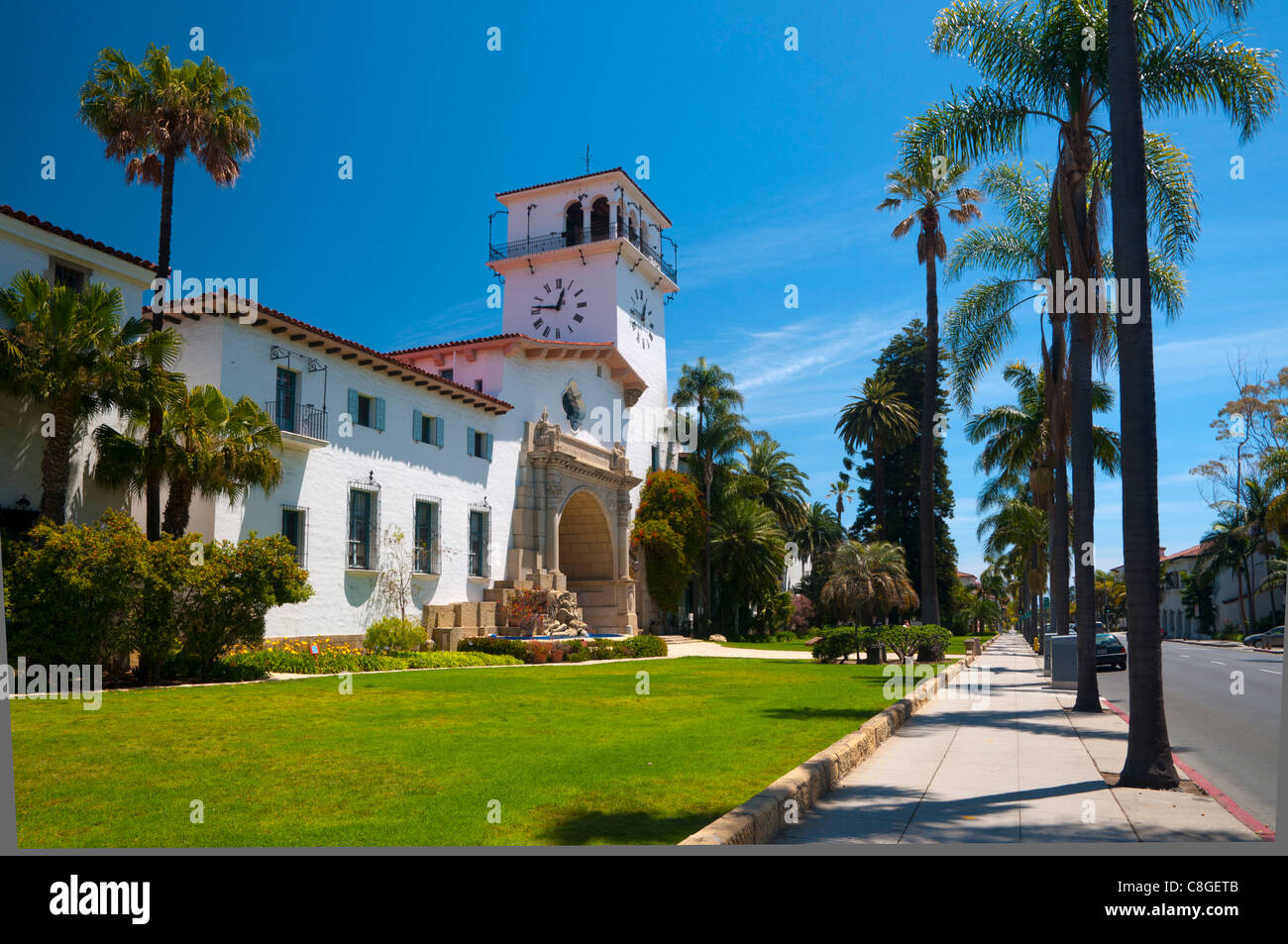 County Courthouse, Santa Barbara, California, United States of America - Stock Image