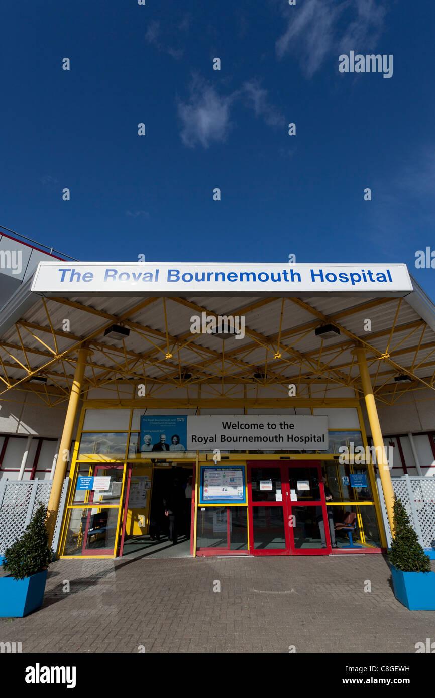 Royal Bournemouth Hospital main entrance - Stock Image