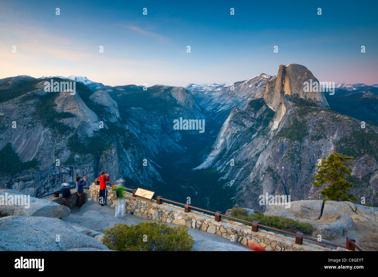 Half Dome from Glacier Point, Yosemite National Park, UNESCO World Heritage Site, California, United States of America - Stock Image