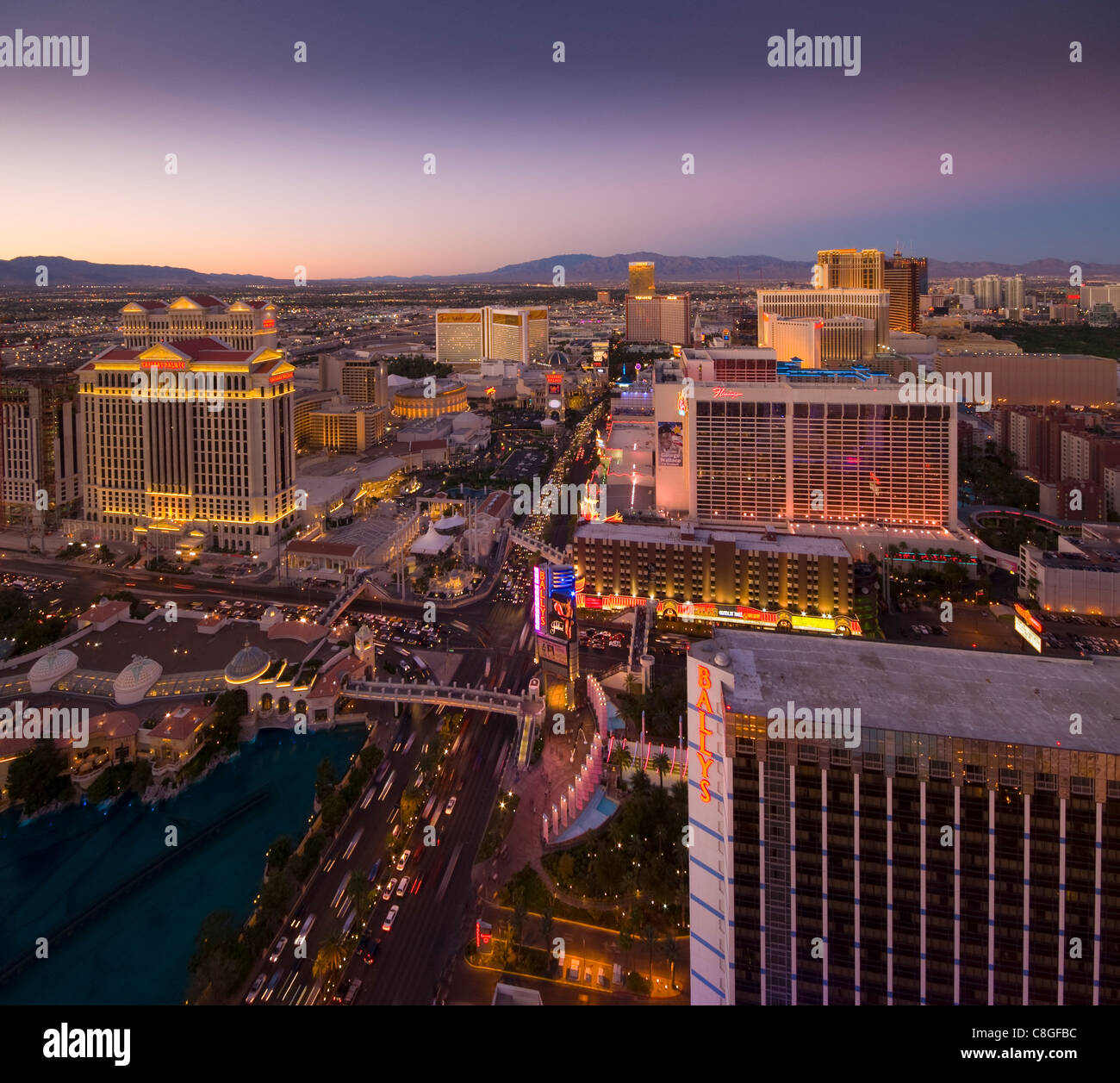 The Strip, Las Vegas, Nevada, United States of America - Stock Image