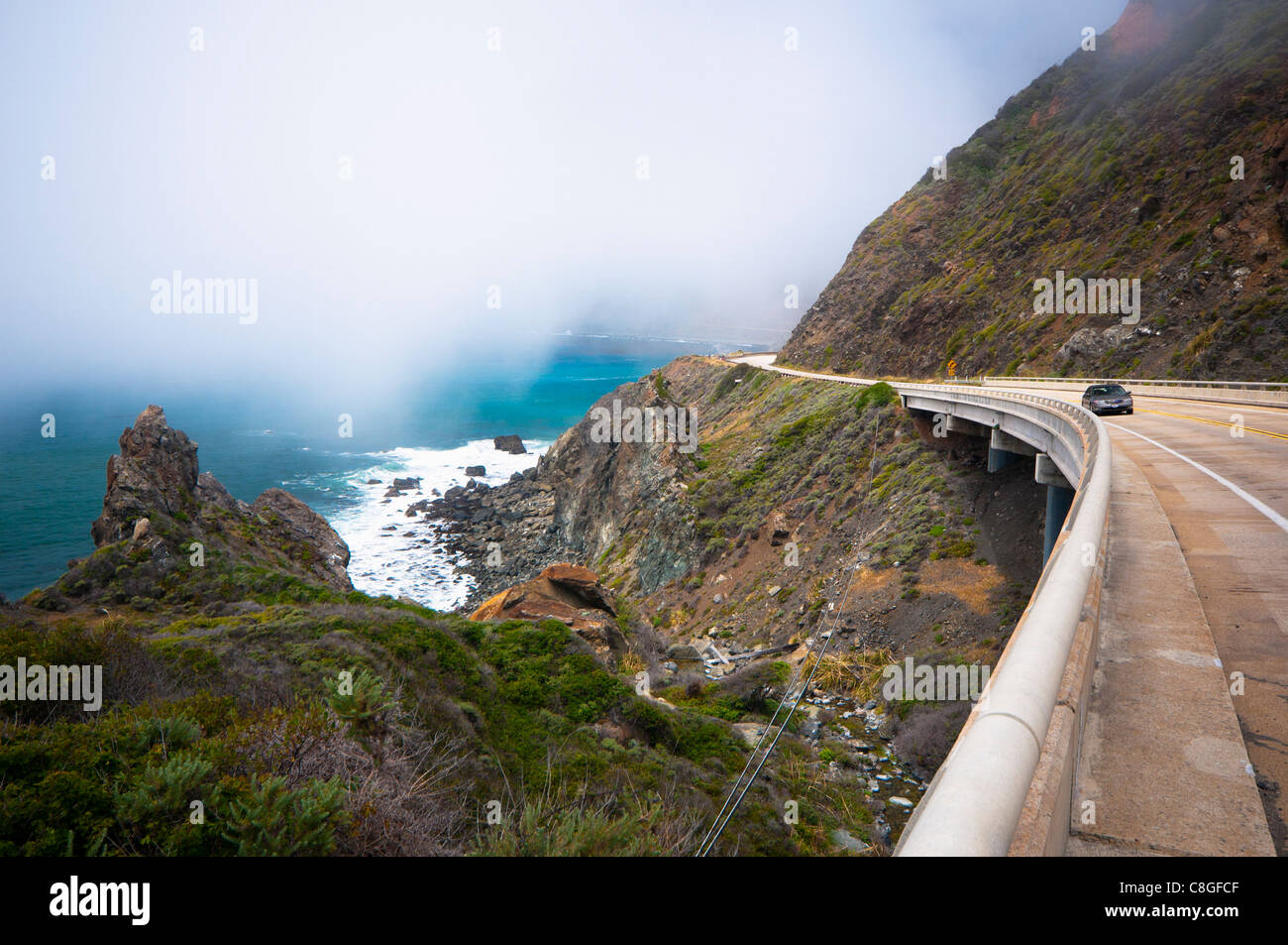 Highway 1, California, United States of America - Stock Image