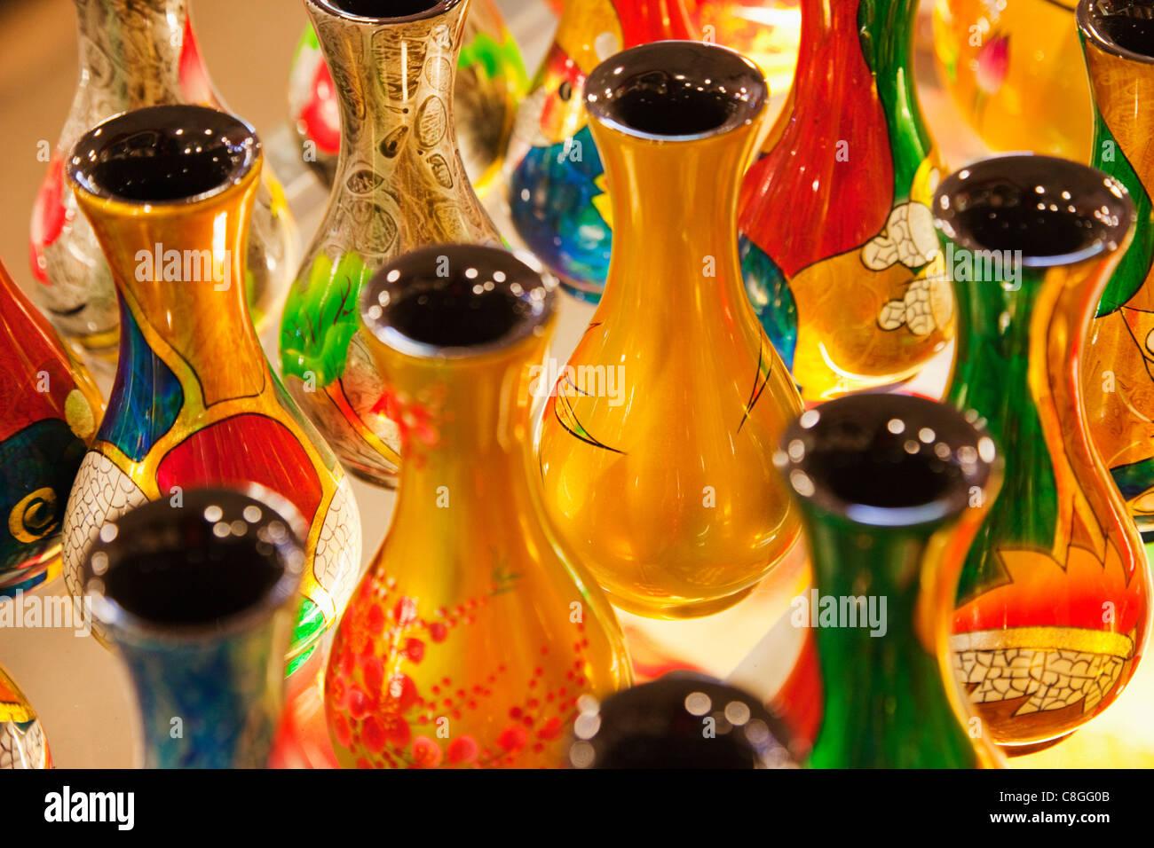 Asia, Vietnam, Hanoi, Laquerware, Artwork, Asian Art, Souvenirs, Shops, Shopping, Tourism, Travel, Holiday, Vacation - Stock Image