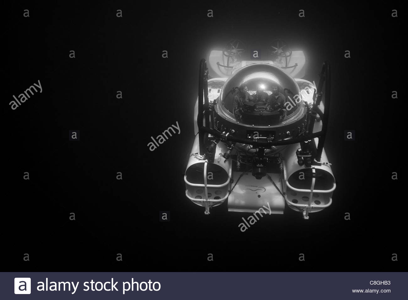 A submarine takes tourists down 1500 feet to see the Depths. - Stock Image