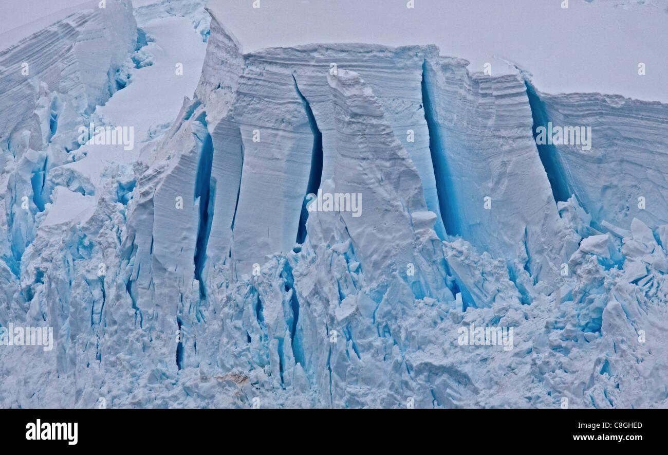 Ice Sheet, Antarctic Peninsula - Stock Image
