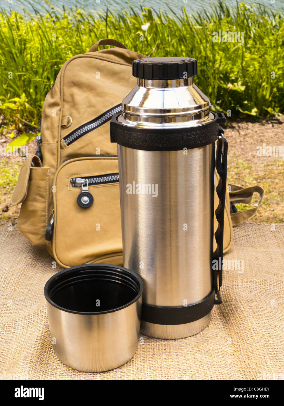 Thermos Flask - Stock Image