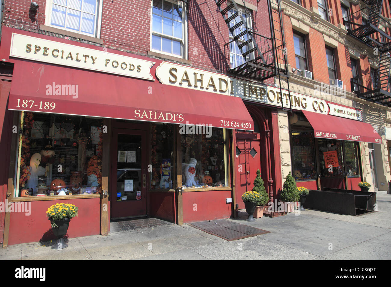 Sahadi Importing Company, Middle Eastern section of Atlantic Avenue, Cobble Hill, Brooklyn, New York City, USA - Stock Image