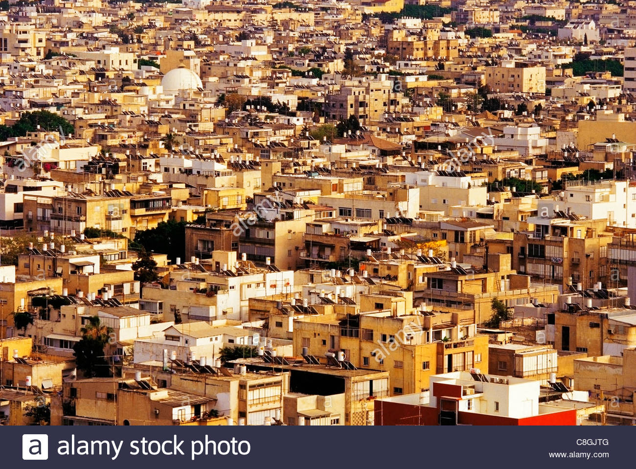 An overall view of residential areas in the center of the city. - Stock Image