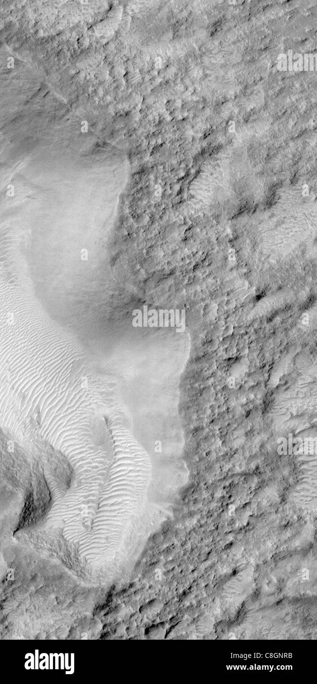 Once Pitted, Twice Spied: A New High Resolution View Inside Escalante Crater Stock Photo