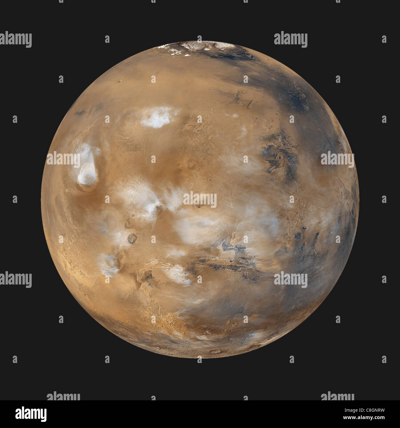 Mars Daily Global Image from April 1999 - Stock Image