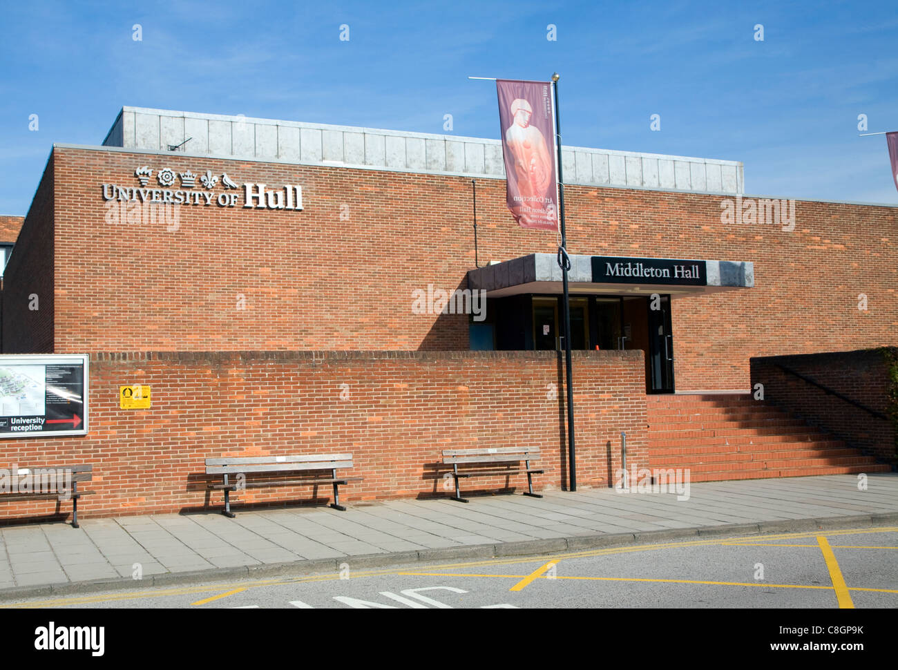 Middleton Hall, University of Hull, Hull, Yorkshire, England - Stock Image