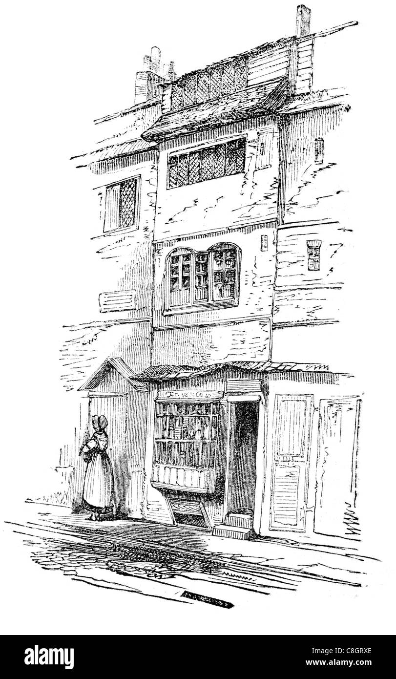 silk weavers windows Spitalfields London Industrial Revolution industries industry factory workforce - Stock Image