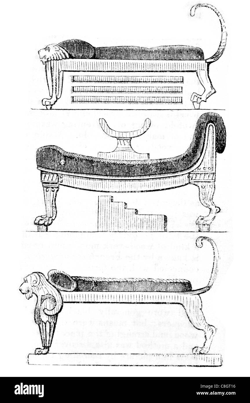 ancient Egyptian couches couch chaise longue Egypt Bedroom ...