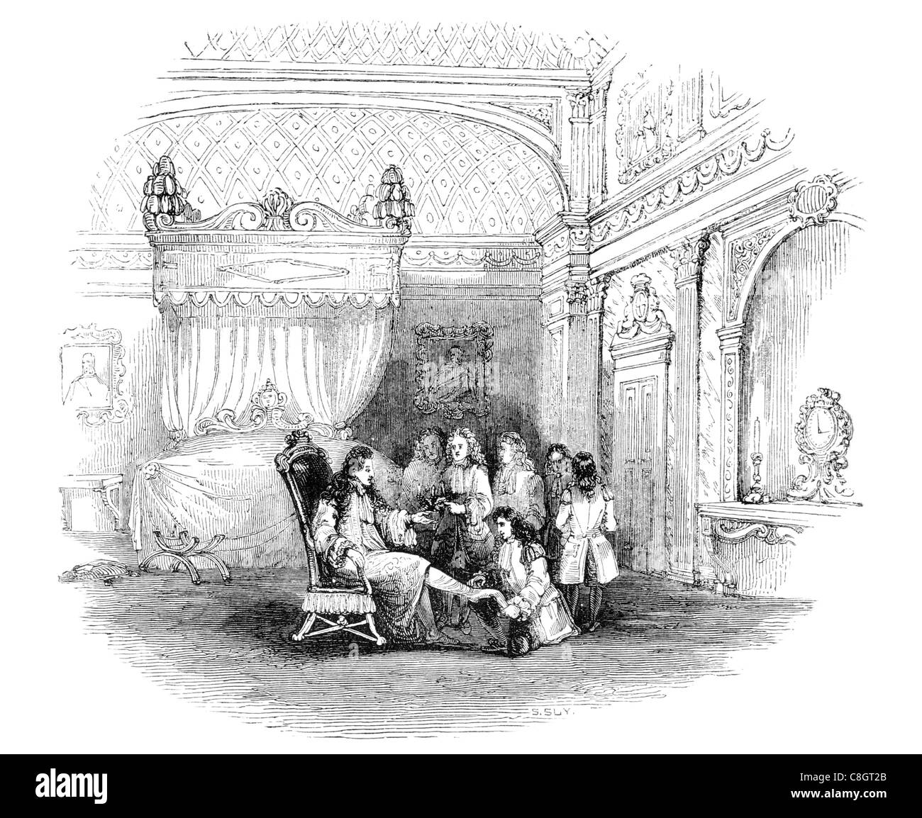 Bedroom Furniture Of Louis XIV King Regal Royal Imperial Sovereign Ruler Monarch Potentate Crowned Head Emperor