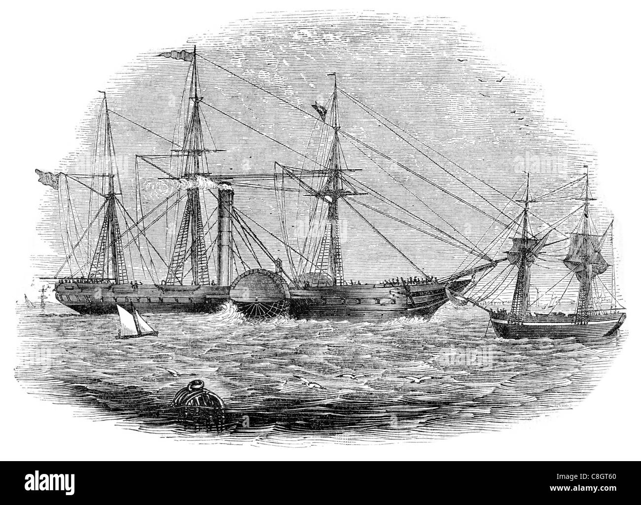 British Queen passenger liner steamship Queen Victoria British American Steam Navigation Company transatlantic - Stock Image