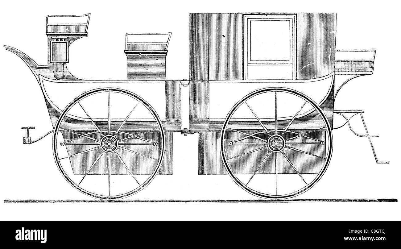 Royal mail coach post horse drawn carriage postal delivery service carriage chariot stagecoach cart omnibus wagon - Stock Image