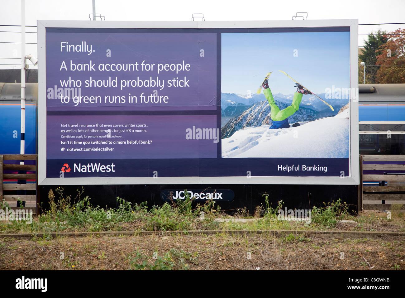 NatWest bank advertising billboard poster - Stock Image