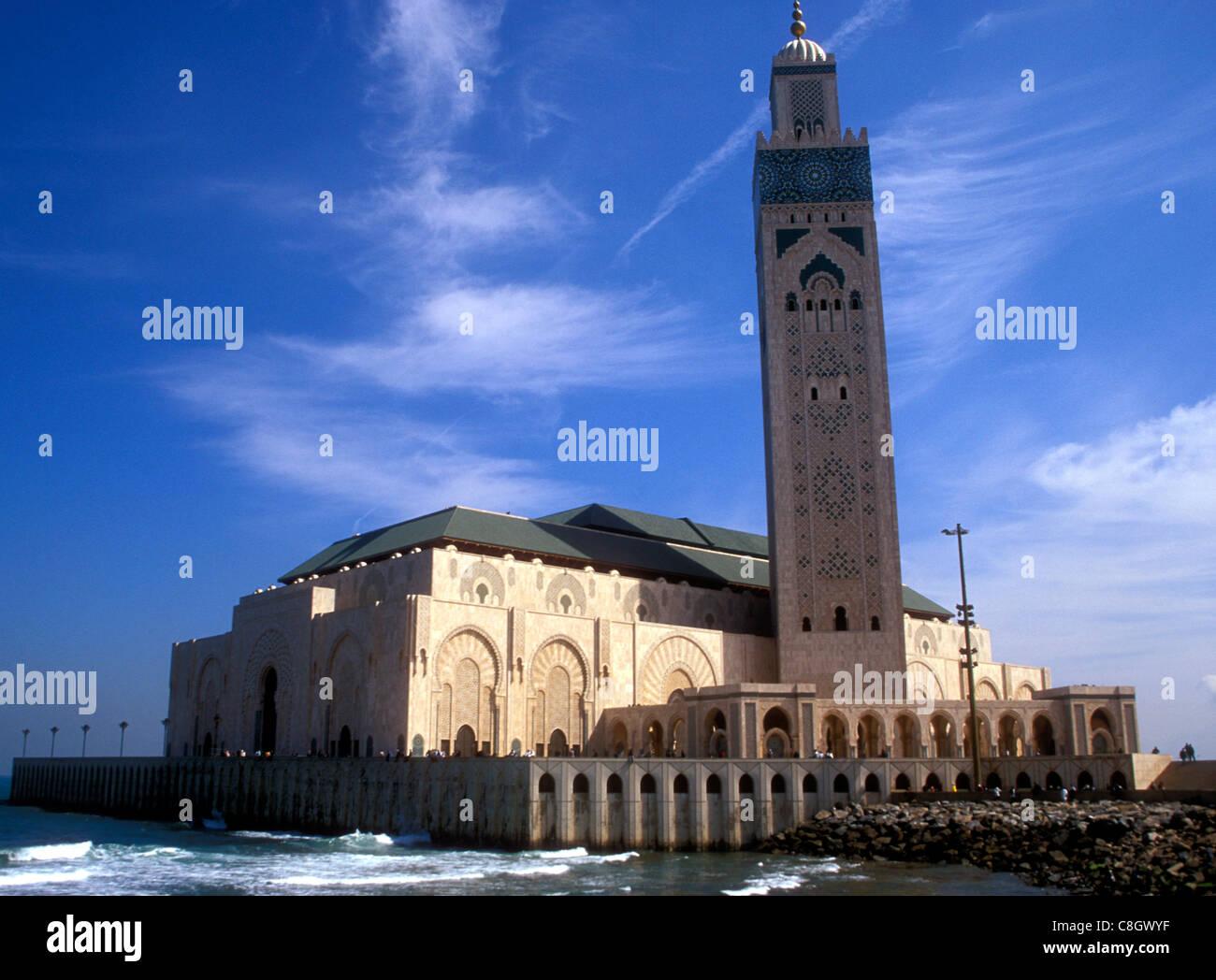 Hassan II Mosque in Casablanca Morocco - Stock Image