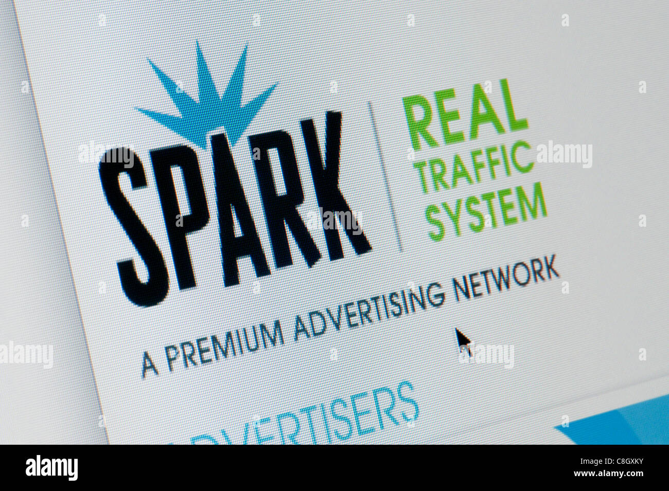 Close up of the Spark Studios logo as seen on its website. (Editorial use only: print, TV, e-book and editorial - Stock Image