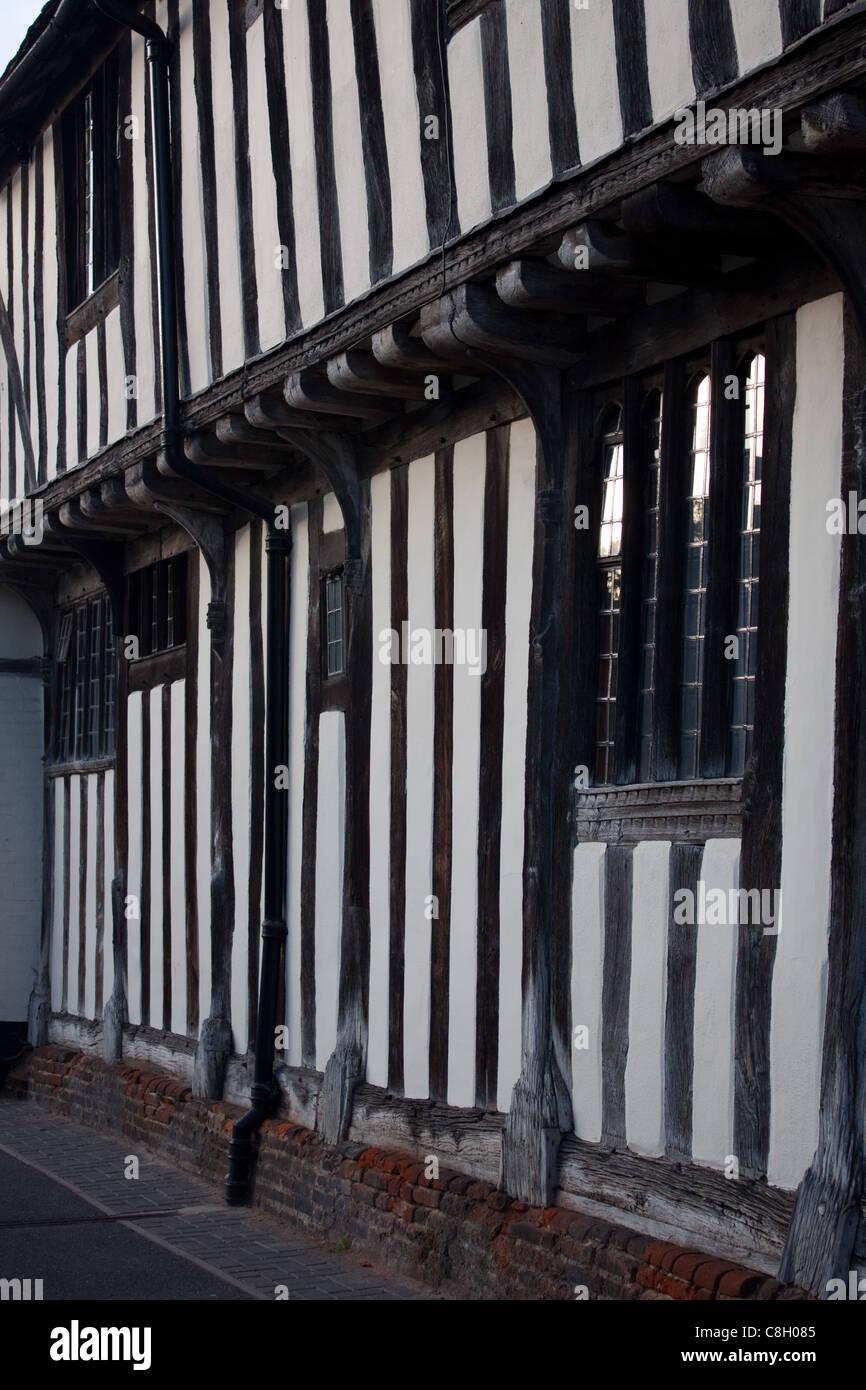 Old village cottages at Lavenham, Suffolk - Stock Image